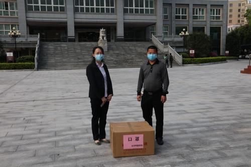 3月23日,五华县明鑫医院向我院捐赠抗疫口罩