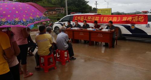 8月5日,我院开展《民法典》宣传进乡村活动
